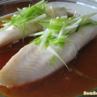 Steamed Fish with Scallion-Ginger-Soy Sauce