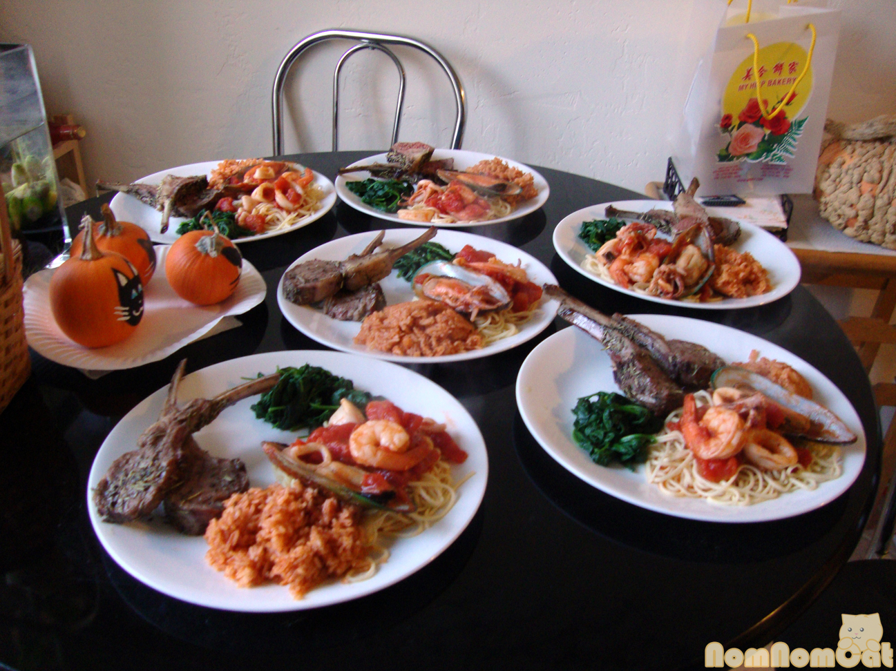 Com do vietnamese tomato red rice nom nom cat our thanksgiving dinner ccuart Choice Image