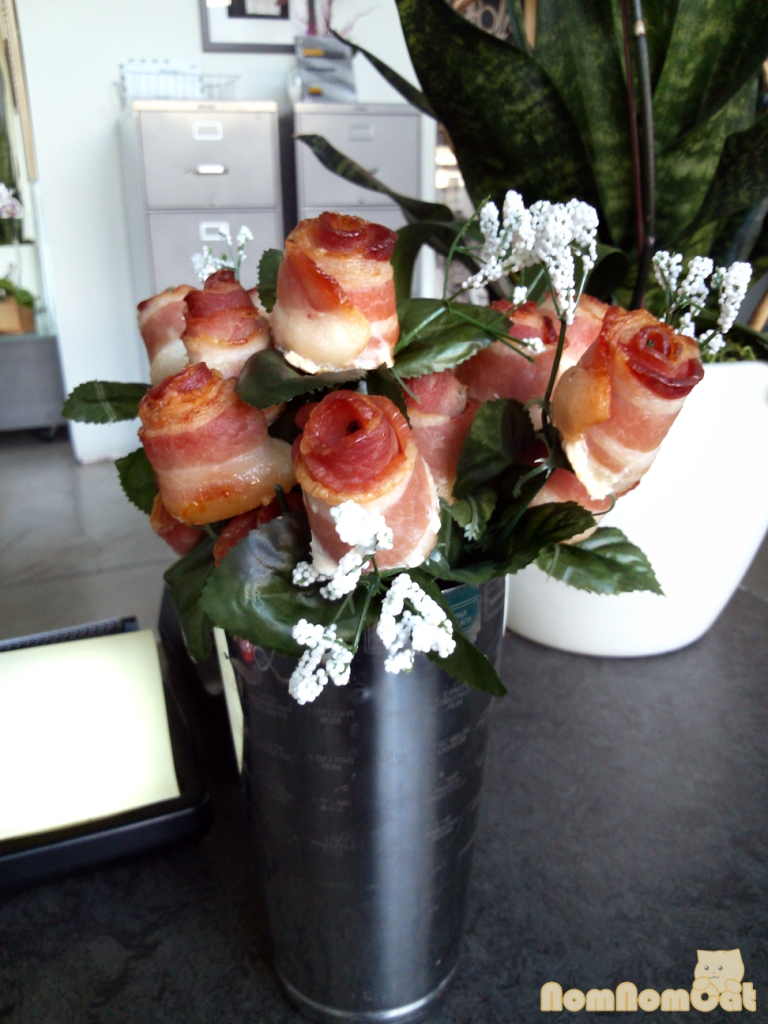 Bacon Roses!!