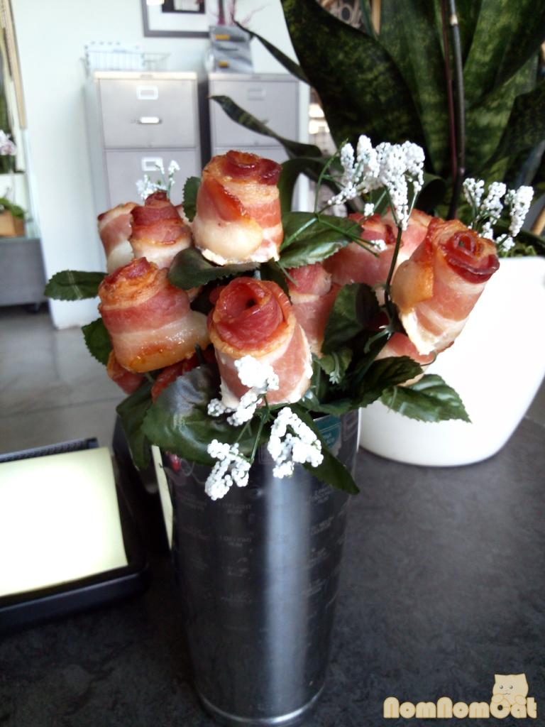 Bacon Roses!!