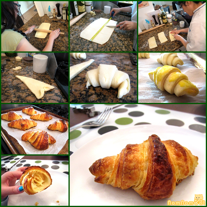 Stunning, flaky butter croissants