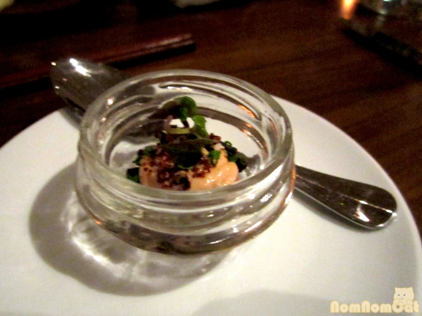 Amuse Bouche: Foie Gras Mousse