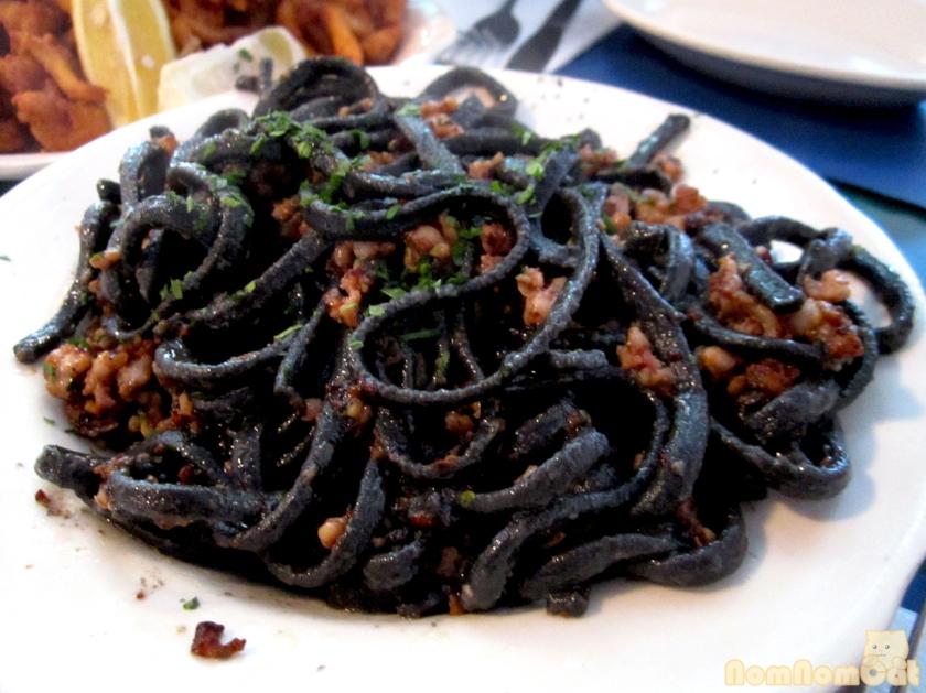 Black (Tinta de Calamari) Pasta Aglio Olio