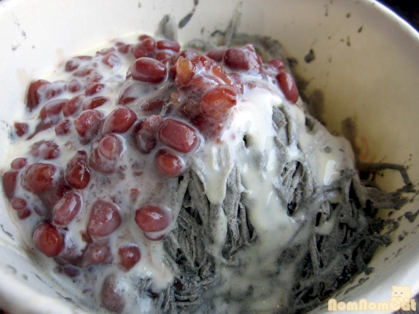 Black sesame ice, azuki, condensed milk