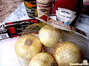 Ingredients for Onion Compote