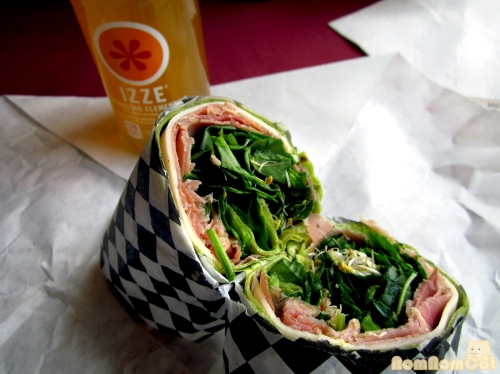 My usual spinach wrap