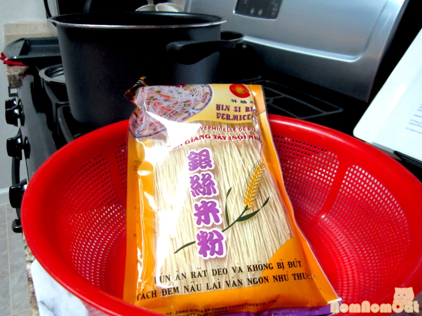 A package of our favorite brand of vermicelli from Lan Vang