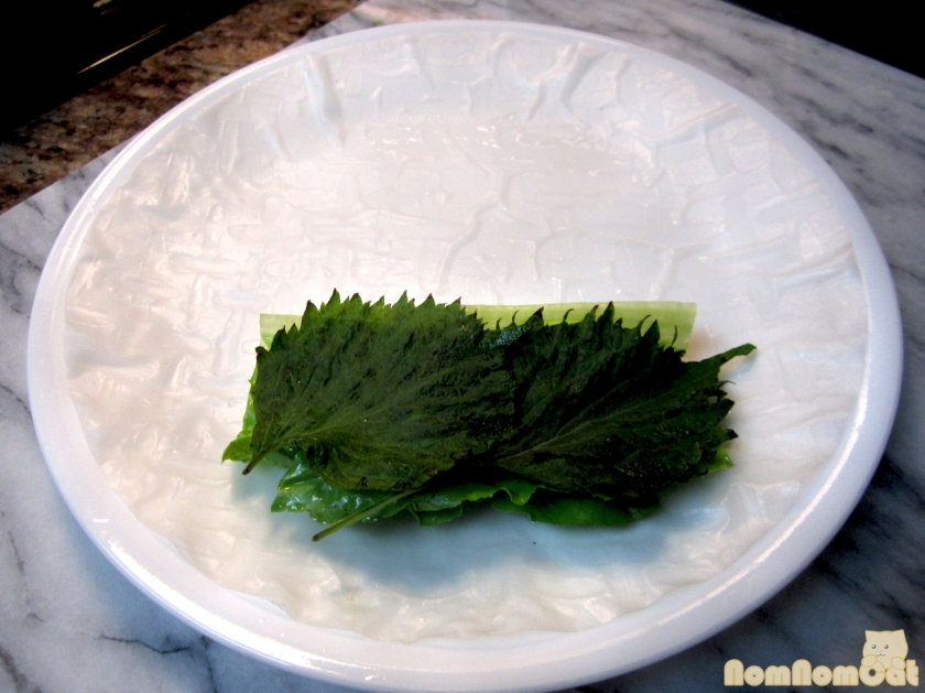 Step 1: leafy greens first
