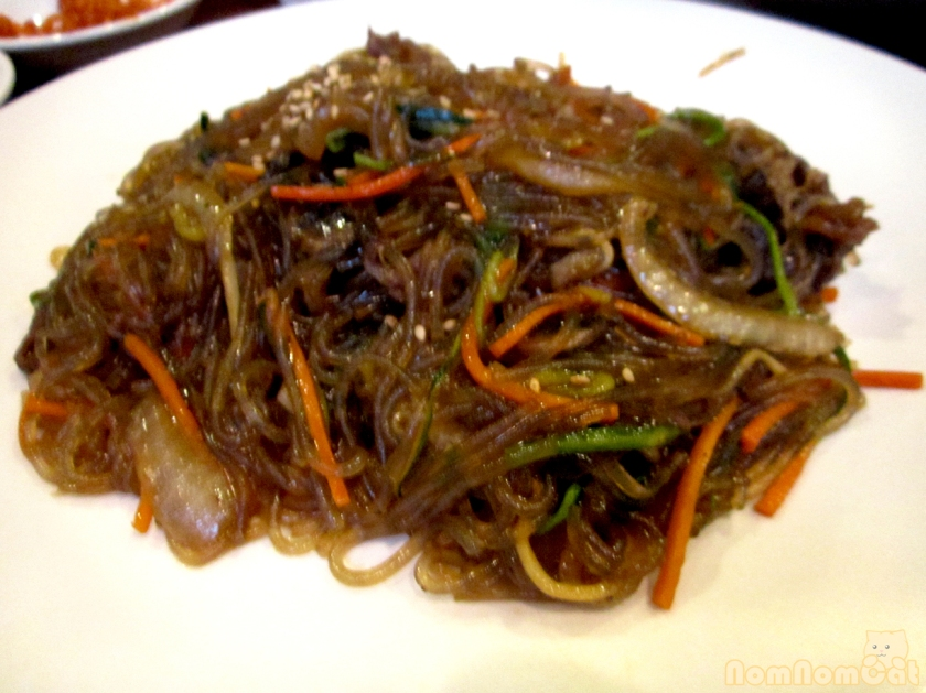 Japchae - Stir Fried Glass Noodles with Beef and Vegetables