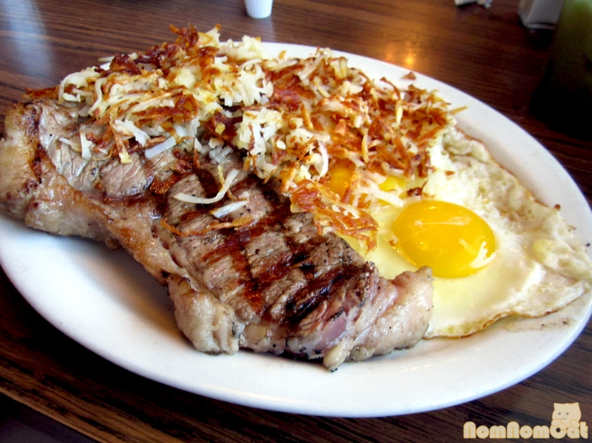 Steak & Eggs at Mae's Cafe
