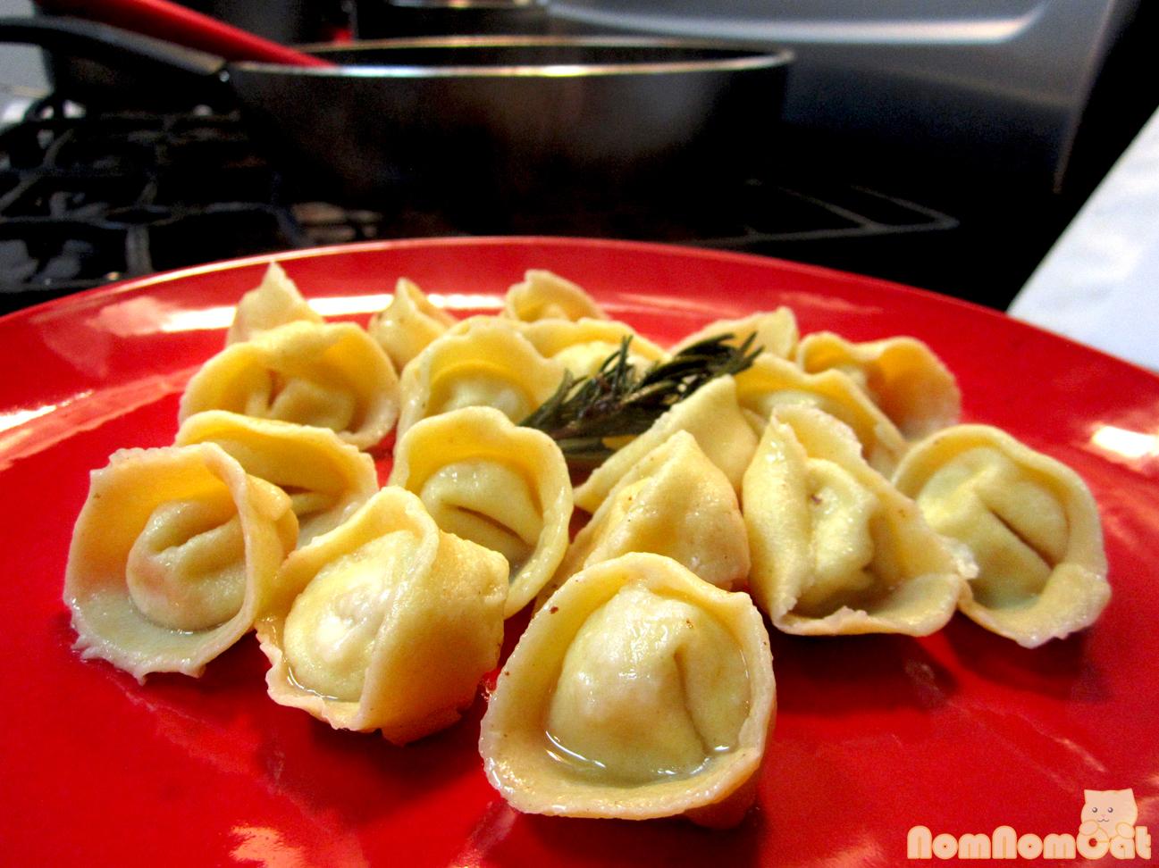 Lemon-Ricotta Tortellini in a brown butter & rosemary sauce