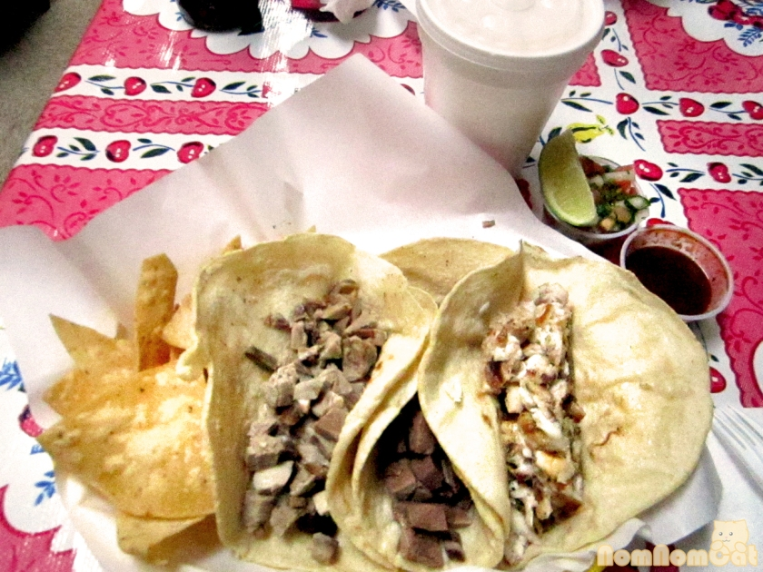 A Trio of Tacos with Horchata