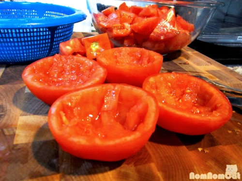 Preparing the Tomatoes