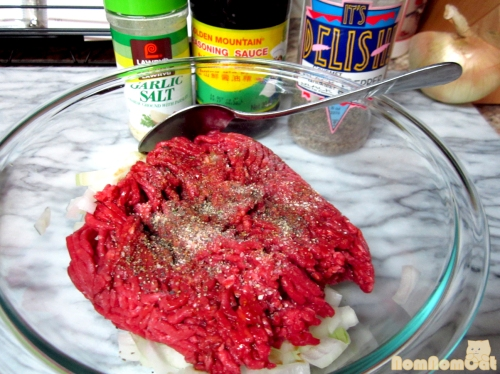 Seasoning the Ground Beef