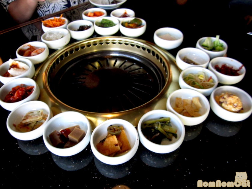 Banchan - 21 varieties, plus rice paper and sliced picked daikon