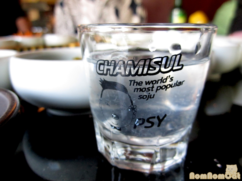 Chamisul Original Soju with Lemon Juice... in a Psy shot glass