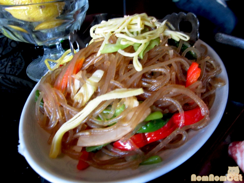 Japchae - stir fried glass noodles