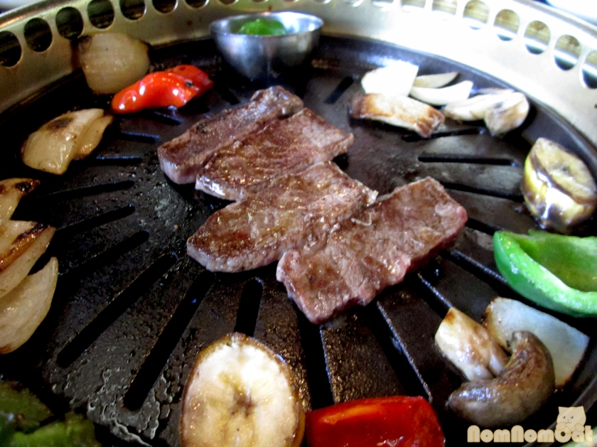 Grillin' up some galbi at Genwa