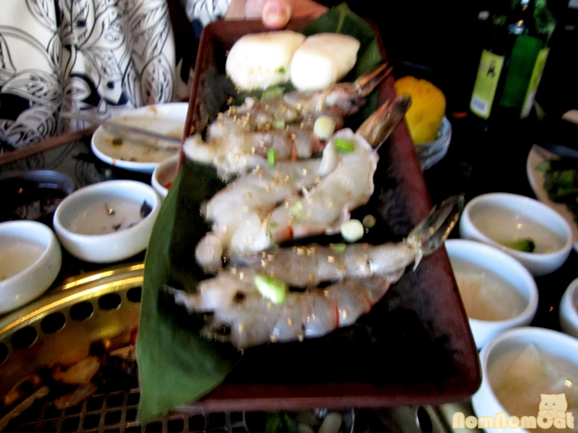 Shrimp & Scallop (pardon the blurriness - perhaps one too many shots of soju by this point)