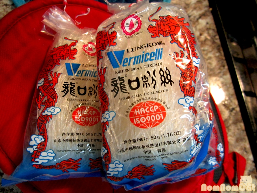 "Bean Thread Noodles (I know the package says ""vermicelli"" on it -- how confusing!)"