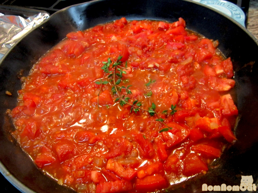 Cooking Down the Tomatoes