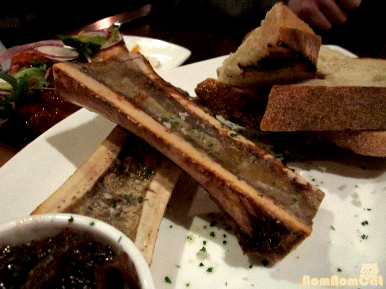 Roasted Bone Marrow – bacon marmalade, grilled bread