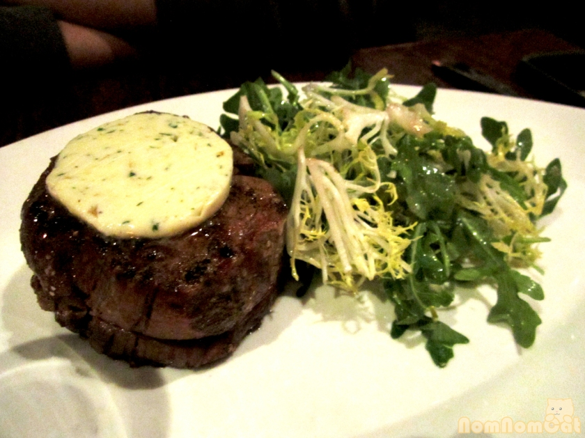 8 oz. Filet Mignon - greens & maitre d'hotel butter
