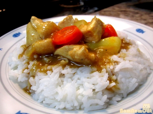 Voila! Japanese chicken curry over rice.