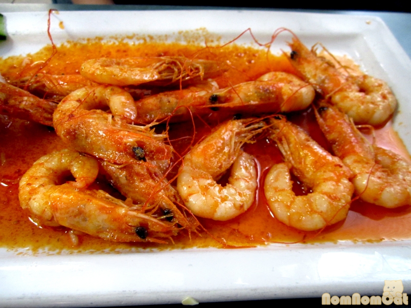 Camarones al Mojo de Ajo - shrimp in butter and garlic salt