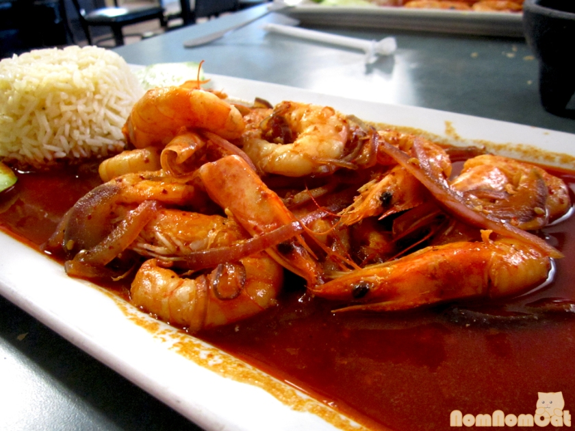 Camarones a la Diabla - shrimp in a spicy red sauce