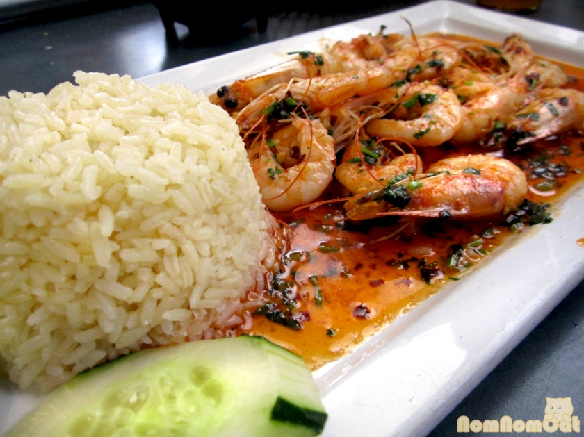 Camarones Borrachos - shrimp in a tequila garlic sauce