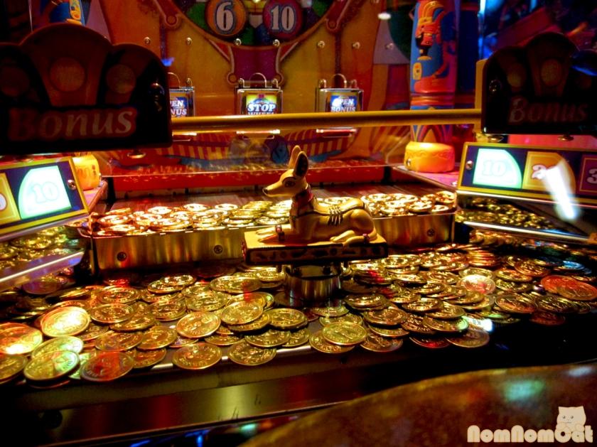 The shiny, shiny coins!