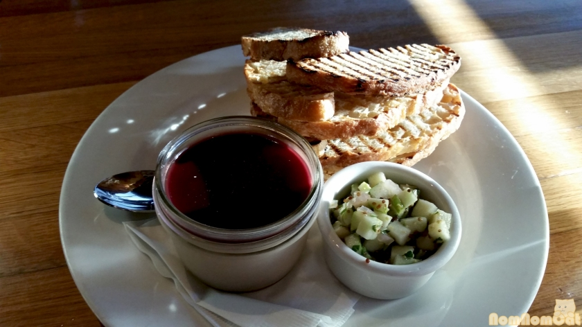 Appetizer: Jar of Chicken Liver Mousse - Green Apple Chutney | Grilled Sourdough