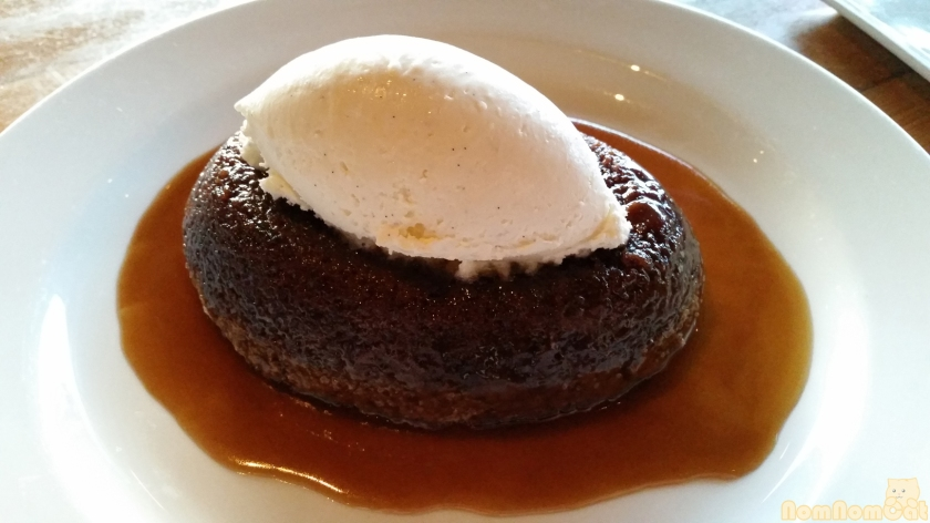 Dessert: Warm Sticky Toffee Cake - Mascarpone Cream