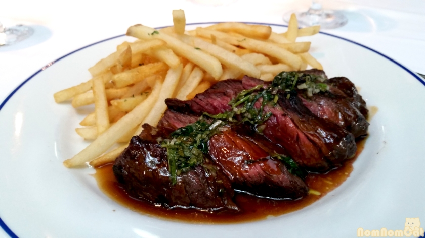 Steak & Frites | Prime Hangar Steak, Wasabi Chimichurri.