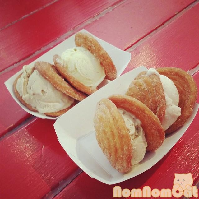 Churro Ice Cream Sandwiches: Spanish Latte x 2, Horchata, Vanilla Custard.